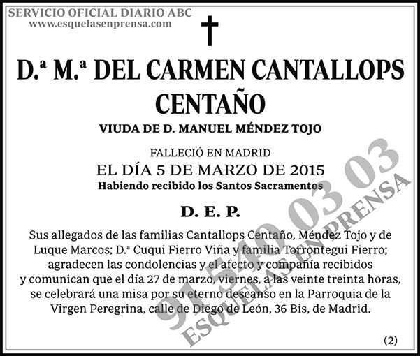 M.ª del Carmen Cantallops Centaño